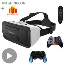 VR Shinecon Casque Viar نظارات ثلاثية الأبعاد الواقع الافتراضي سماعة خوذة حملق العدسات ل هاتف ذكي الهاتف الذكي مناظير لعبة فيديو