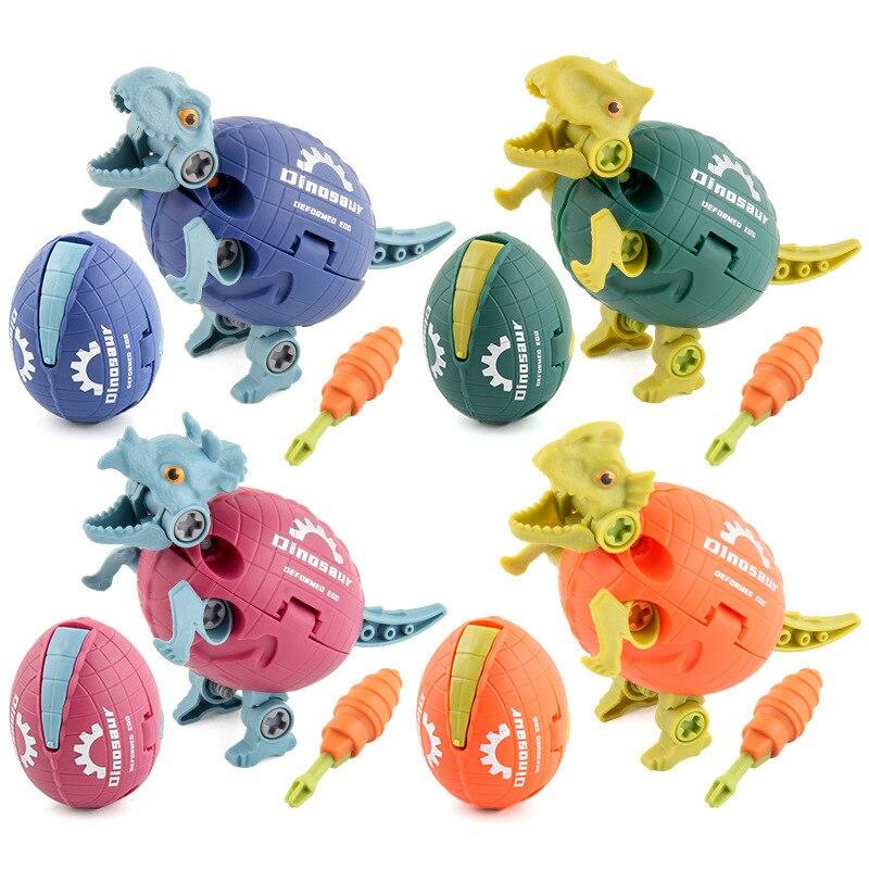 Деформированные Яйца динозавра Юрского периода DIY сборка разборка деформация детские игрушки