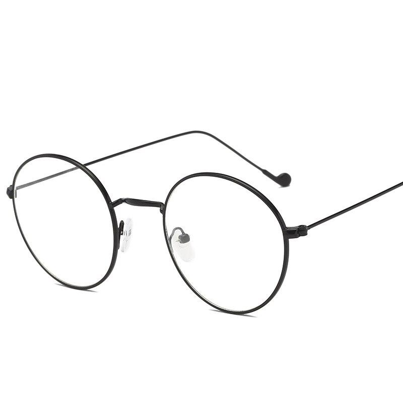 2019 Show Zhitong-hombres no Alcohol por volumen líneas doradas planas lisas gafas de ordenador redondo para mujer marco de Ojos de miopía Retro