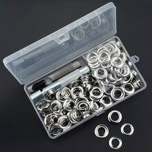 1set 12mm Set di occhielli in metallo riparazione artigianale in pelle Scrapbooking accessori per vestiti con foro in pelle fai-da-te con strumenti per bussare a mano