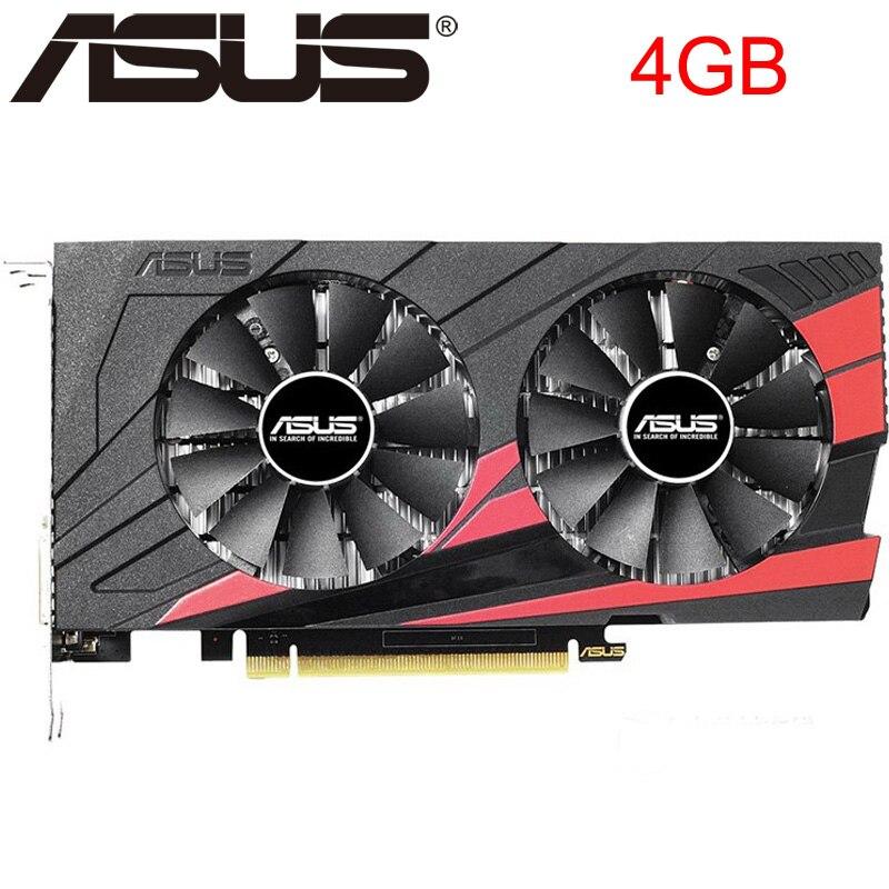 ASUS tarjeta de vídeo Original GTX 1050 Ti 4GB 128Bit GDDR5 tarjetas gráficas para nVIDIA VGA tarjetas Geforce GTX 1050ti Hdmi Dvi juego usado