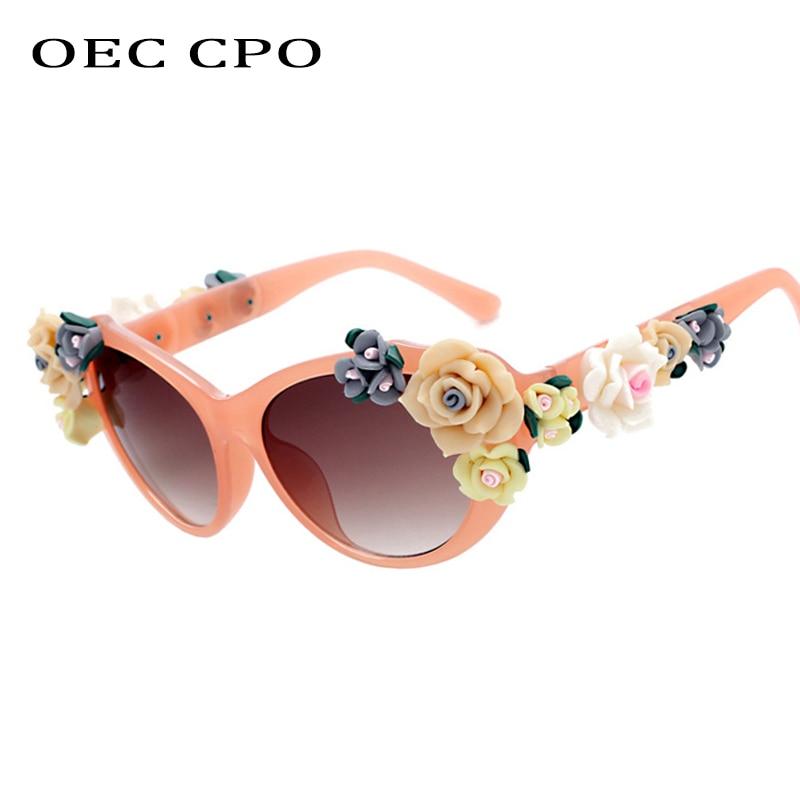 AliExpress - Charming Flower Fashion Cat Eye Sunglasses Women Oculos Vintage Cat Eyes Glasses Brand Designer Men Eyeglasses Shades UV400 O259
