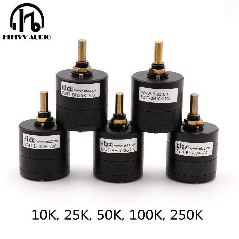 Hifivv de audio de alta fidelidad EIZZ potenciómetro de conmutación 2.0CH alta precisión 24 potenciómetro 10K 25K 50K 100K 250K