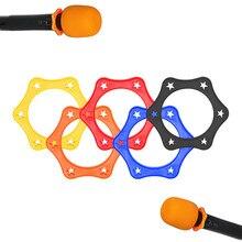 Anneau de Protection de micro anti-dérapant en caoutchouc 6 pièces pour Microphone sans fil portable