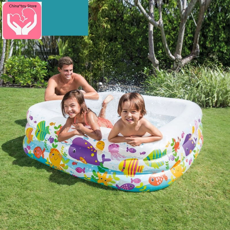 Cartoon cute inflatable swimming pool children home paddling pool indoor water park large baby bathing pool inflatable pool