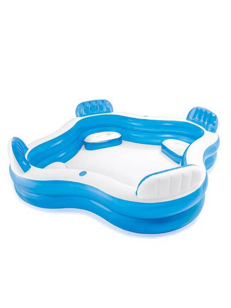 كبير حمام سباحة قابل للنفخ رشاقته بك التجديف بركة حوض الاستحمام مع أربعة مقاعد زجاجة عقد في الهواء الطلق الصيف حمام سباحة