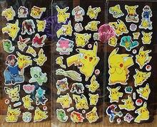 Autocollants dessin animé Pikachu   Étiquette Scrapbooking, monstre de poche, jouet pour enfants