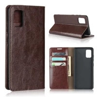 natural genuine leather skin flip wallet book phone case cover on for samsung galaxy a21s a31 a51 a71 a 21s 31 51 71 64128 gb