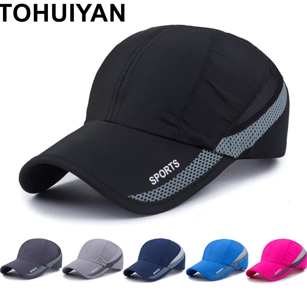 Top Level Sports Cap For Men Summer Breathable Mesh Sun Hat Women Adjustable Baseball Caps Fashion Gorras Hombre Fishing Hats