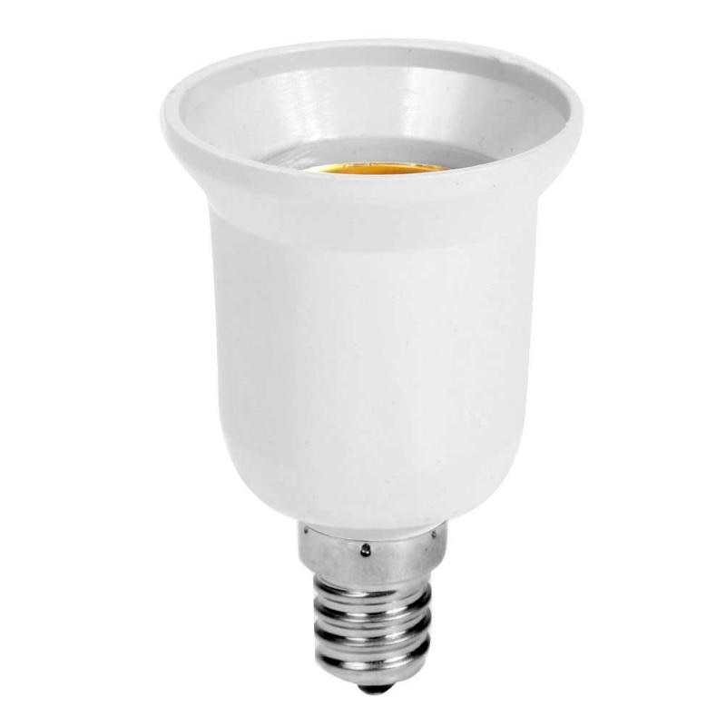 Material de alta calidad adaptador para bombilla de luz de enchufe nuevo E14 a E27 LED halógeno CFL bombilla adaptador de lámpara de Venta caliente
