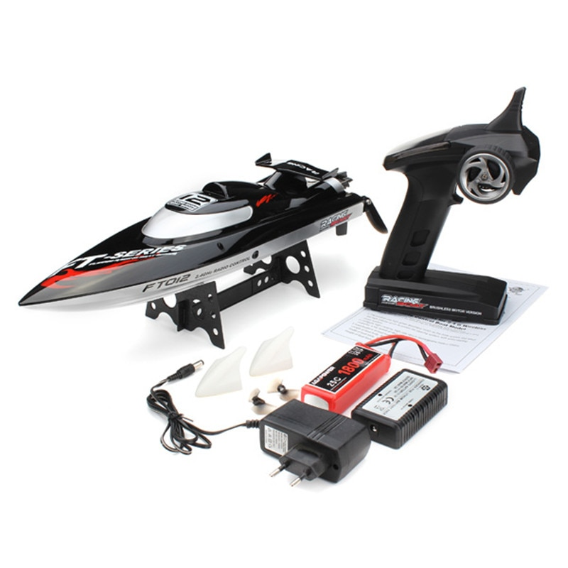 FEILUN FT012 Upgraded FT009 2.4G 50KM/H High Speed Brushless Racing RC Boat For Kid Toys Vehicle Gif