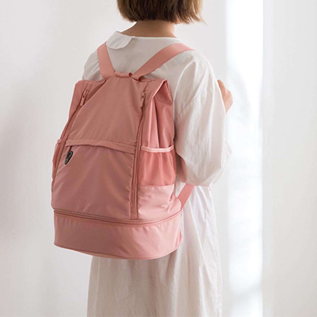 Bolsa de Fitness multifunción de gran capacidad, separación de ropa seca y húmeda, bolsa de deporte de hombro, mochila para parejas, bolsa de viaje W2