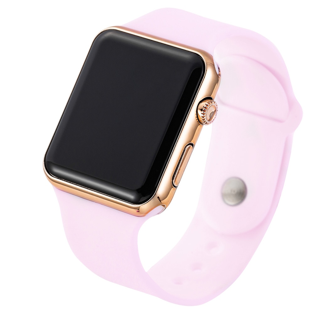 2020 New LED Watch Pink Strap For Digital Watch Silicone Band Women Watch Men Watch Wrist Watch ре