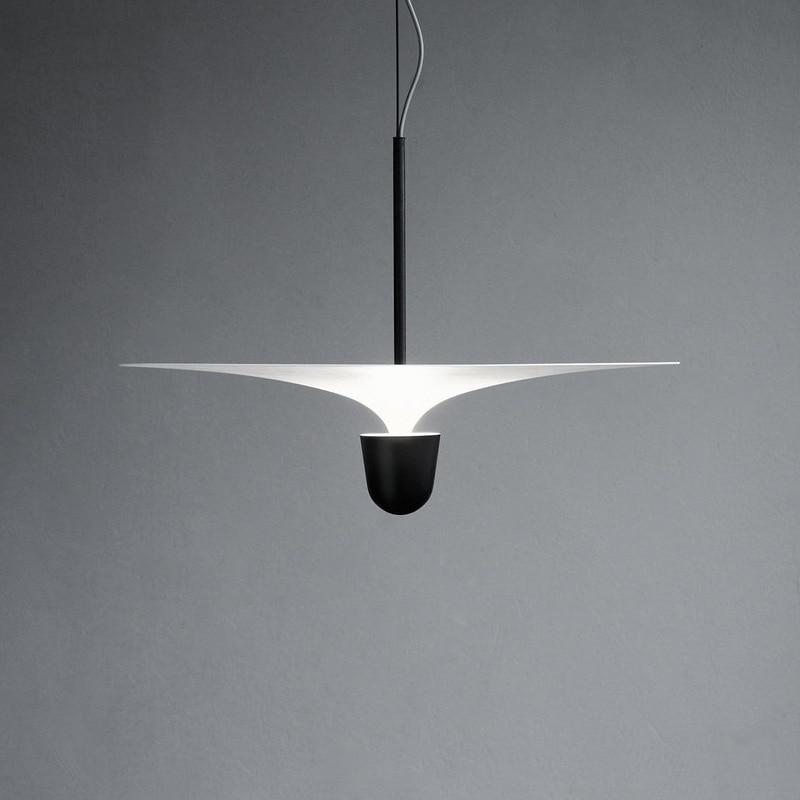 Lámpara de araña minimalista moderna, diseño creativo de dormitorio, restaurante, cafetería, Bar, candelabro Original Led, luz de isla