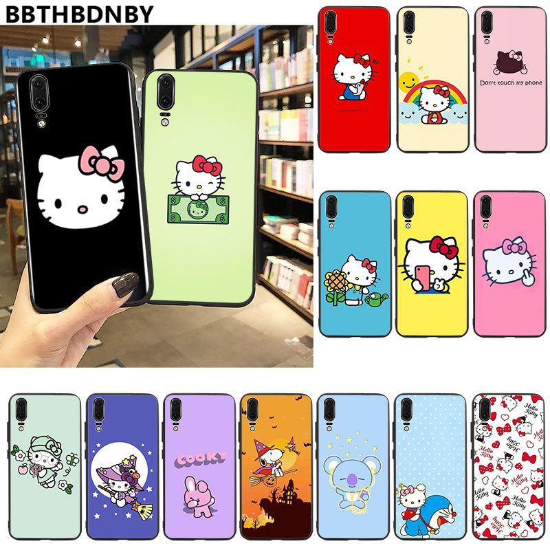 Para Huawei P20 alta calidad Hola Kitty funda del teléfono para Huawei P10 lite P20 pro lite P30 pro lite Psmart amigo 20 pro lite