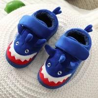 girls cute cartoon dinosaur home shoes children warm fur slipper kids unicorn home slippers boys autumn winter slippers
