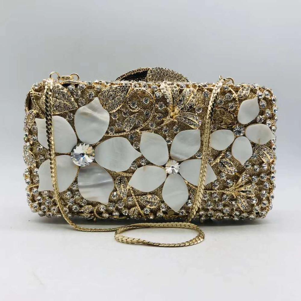 حقيبة يد صغيرة من الأحجار الكريمة الكريستالية للنساء ، حقيبة سهرة صغيرة ، عصرية ، زهور ، عشاء ، مأدبة