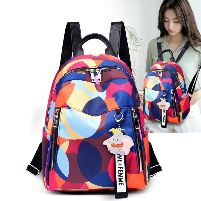 New School Bags High Quality Waterproof nylon Women Backpack Fashion Backpacks Famous Brand Ladies Large Capacity
