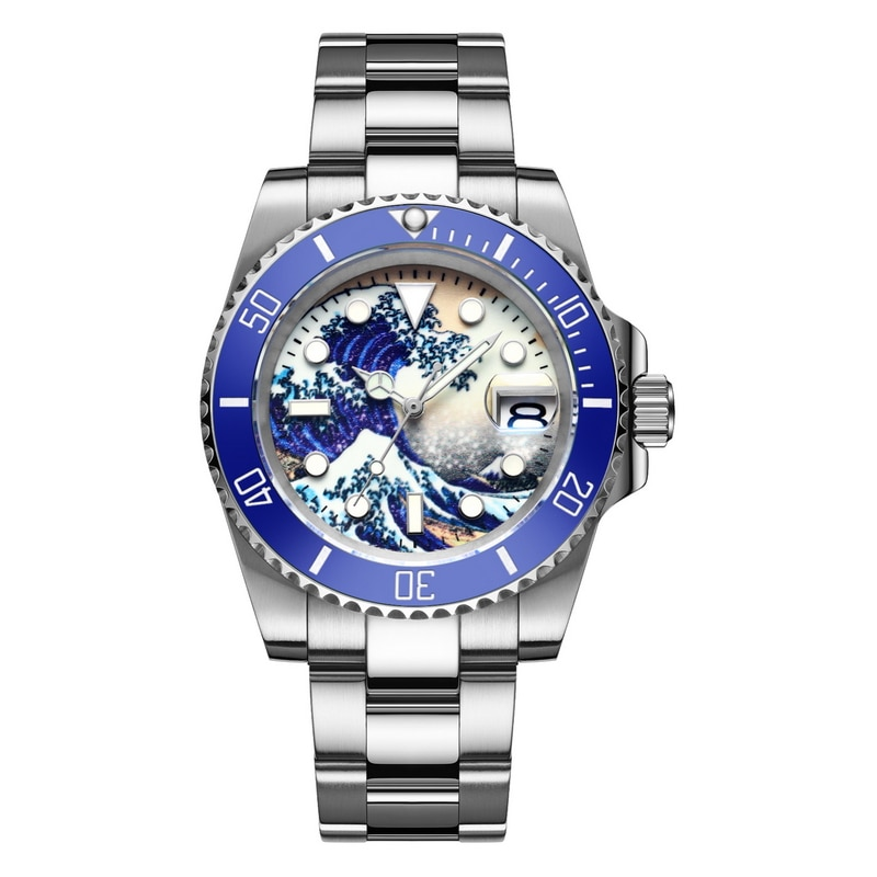 Dropshipping Professional 200m diving men's automatic mechanical watch luxury dial luminous stainless steel Relogio Masculino enlarge