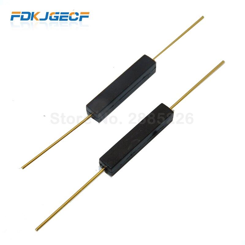 100 pces reed switch plástico tipo GPS-14B GPS-14A anti-vibração dano interruptor magnético nc normalmente fechado