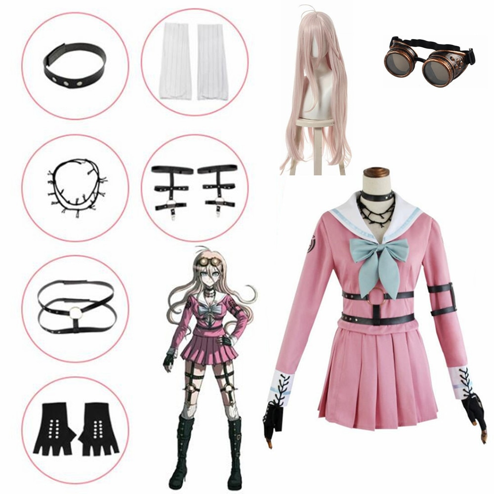 Danganronpa V3 Miu Iruma Cosplay Costumes Women Dress Girls Uniforms clothing