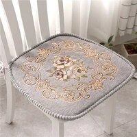 floral pattern chair cushion cotton filling sofa seat mat dinning chair cushion with bandage warm seat pad home decor cushions