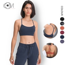 CAPMAP 2021 New Yoga Vests For Women's Training Top Sport Underwear Without Frame Bra T Shirts Blo