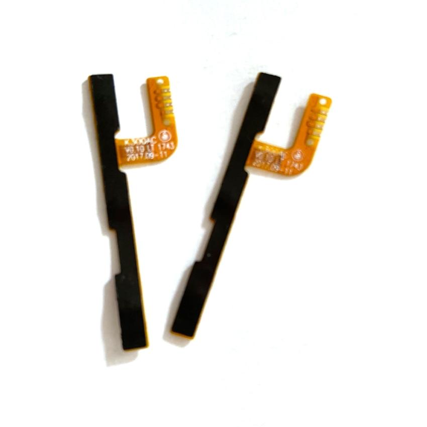 10 Uds para Wiko Jerry 3 volumen y encender y apagar Tecla de botón reemplazo de cable flexible pieza de reparación