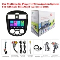for nissan tiida mt ac 2011 2015 accessories car android multimedia player radio 9inch ips screen stereo gps navigation system