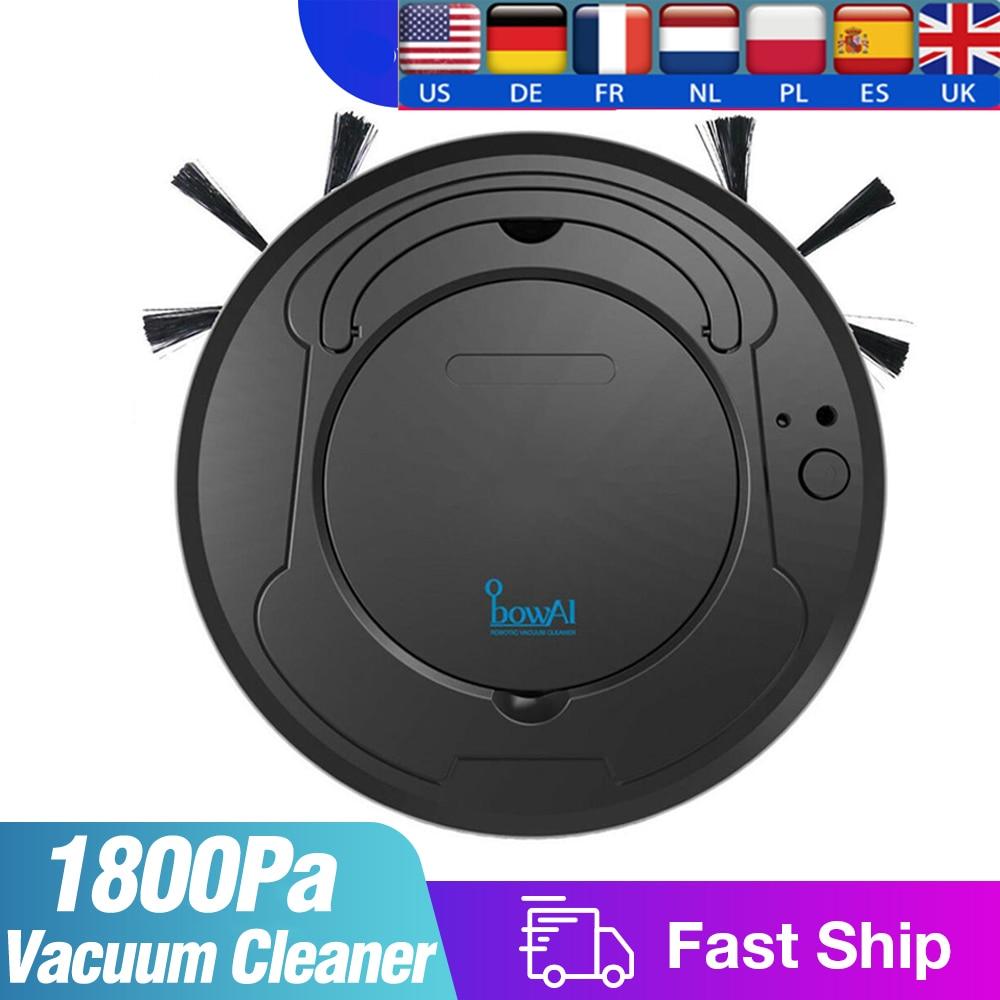 1800Pa Smart Robot Vacuum Cleaner Multifunctional 3-In-1 Auto Rechargeable Floor Sweeping Robot Dry Wet Vacuum Cleaner Machine