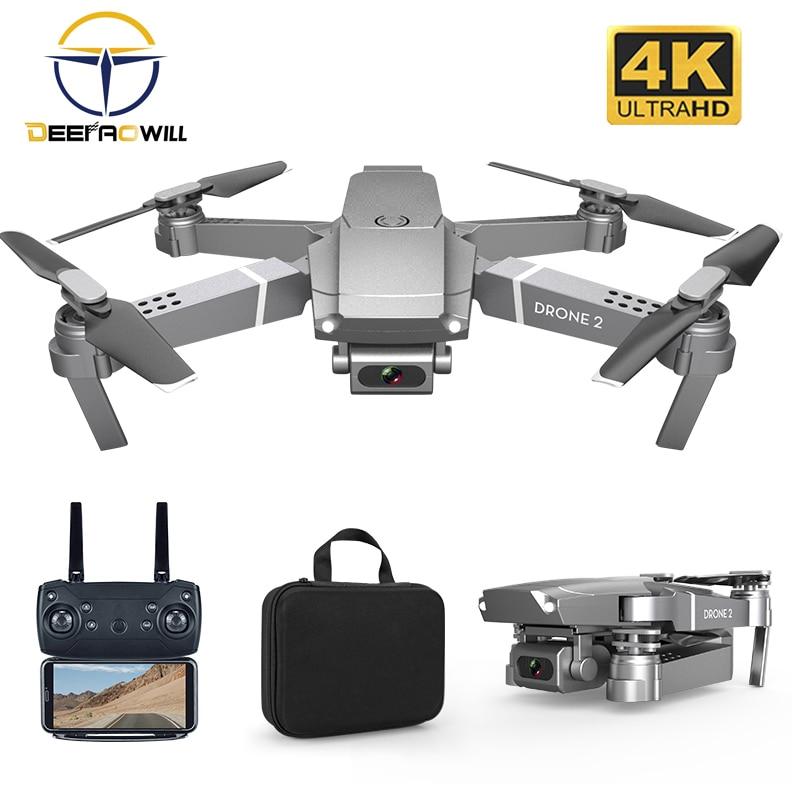E68 nuevo Dron RC HD gran angular 4K WIFI 1080P FPV Drone Video grabación Quadcopter altura en tiempo Real para mantener la cámara Drone juguete