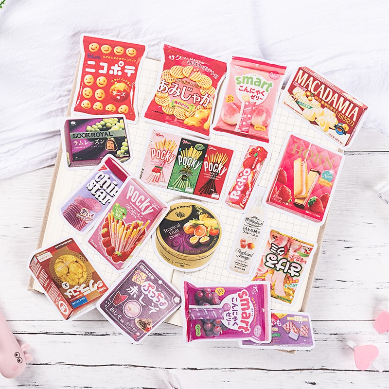Cute Japanese Sweets Stickers Scrapbooking Decorative Sticker Refreshing Snacks Diy Diary Album Stick Label Kawaii Stationery flamingo mark name stickers decorative stationery craft stickers scrapbooking diy stick label