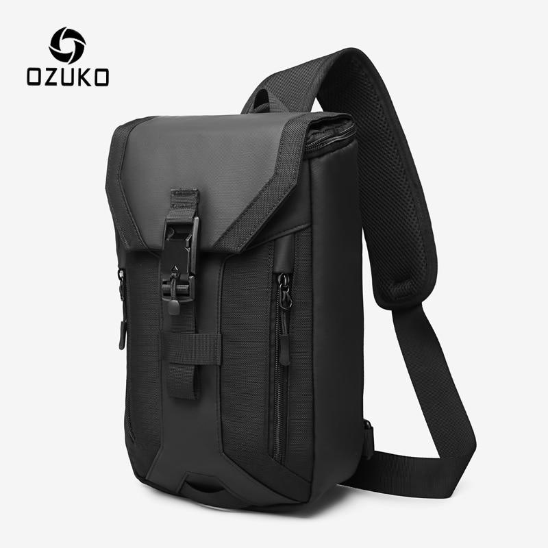 OZUKO New Men Bag Multi-layer Crossbody Bag High Quality Waterproof Shoulder Bag Male Messenger Bag for Teenagers Men Sling Bags