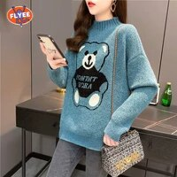 womens hip hop streetwear harajuku sweater vintage retro japanese style anime knitted sweater 2021 autumn cotton pullover