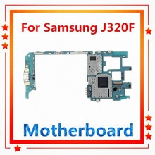 Entsperrt für Samsung Galaxy J3 motherboard J320Y,J320F(single/dual SIM) getestet mainboard Android Original ersetzt zurück kamera