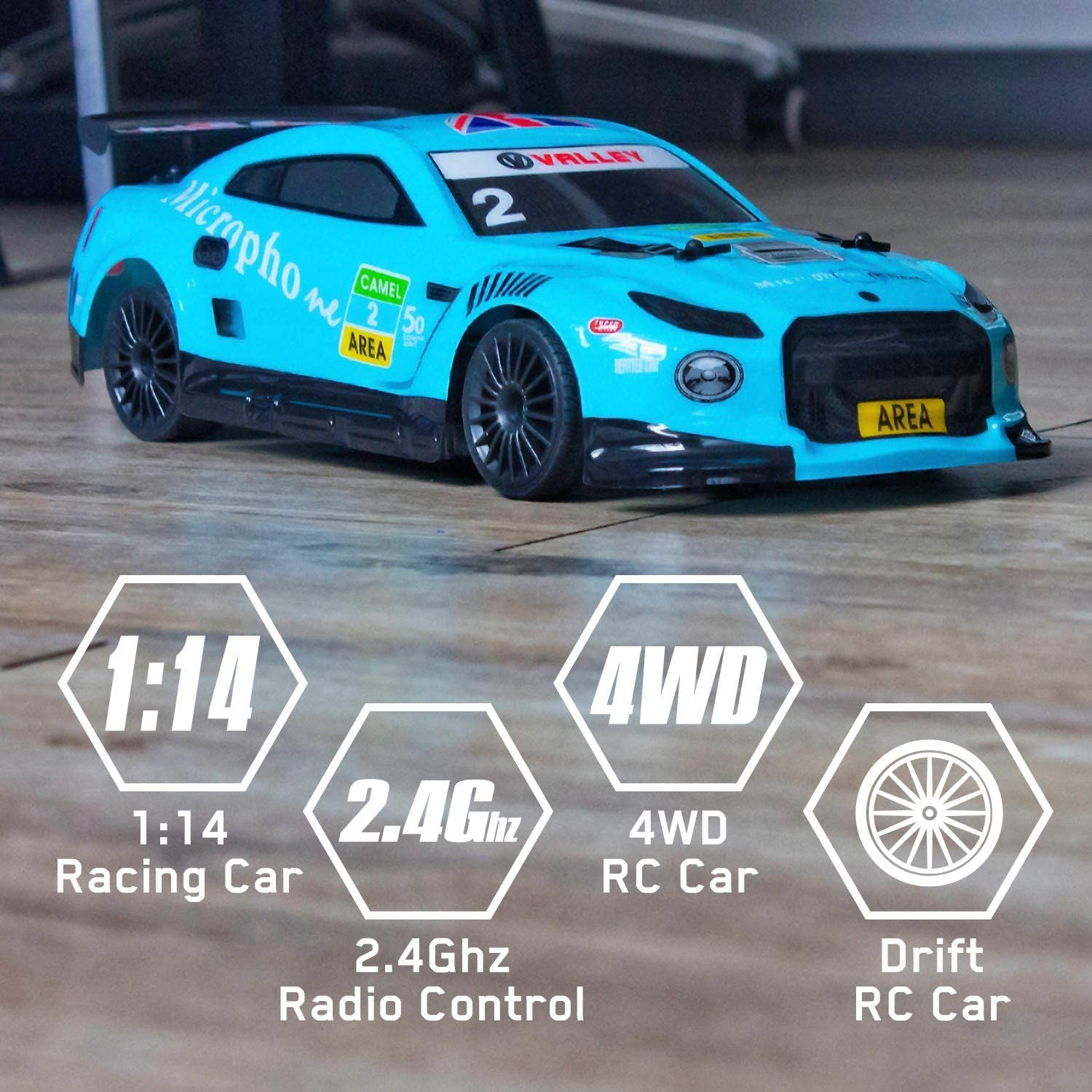 GTR Super Sport Drift Rc Car Arrival Big 2.4G RC Car 1:14 Scale 4WD Remote Control High Speed All Terrain Vechicle  Kids Toys enlarge