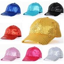 Mistdawn Women Men Shining Sequin Baseball Hat Sequined Glitter Dance Party Cap Clubwear Costume Adjustable Size