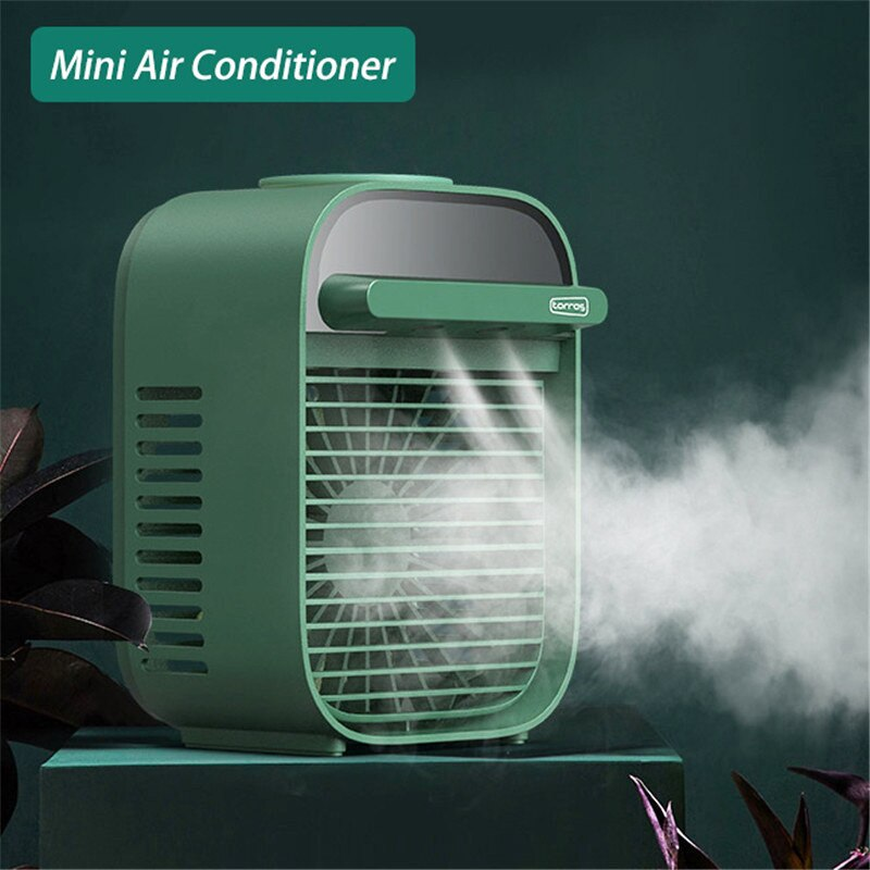 Portátil mini pequeno refrigerador de ar condicionado usb ventilador de carregamento desktop humidificação ventilador de refrigeração