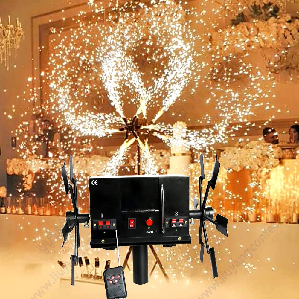 Wedding Fireworks Stage Fountain Cold Pyro Ignition Firing System Wireless Remote Control Double Wheel Windmill Machine Dj Marry