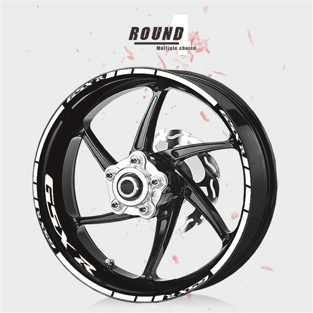 ملصق زخرفي لإطارات دراجة نارية ممتاز ، مقاوم للماء ، عجلة ، فيلم شريط عاكس لسوزوكي GSXR