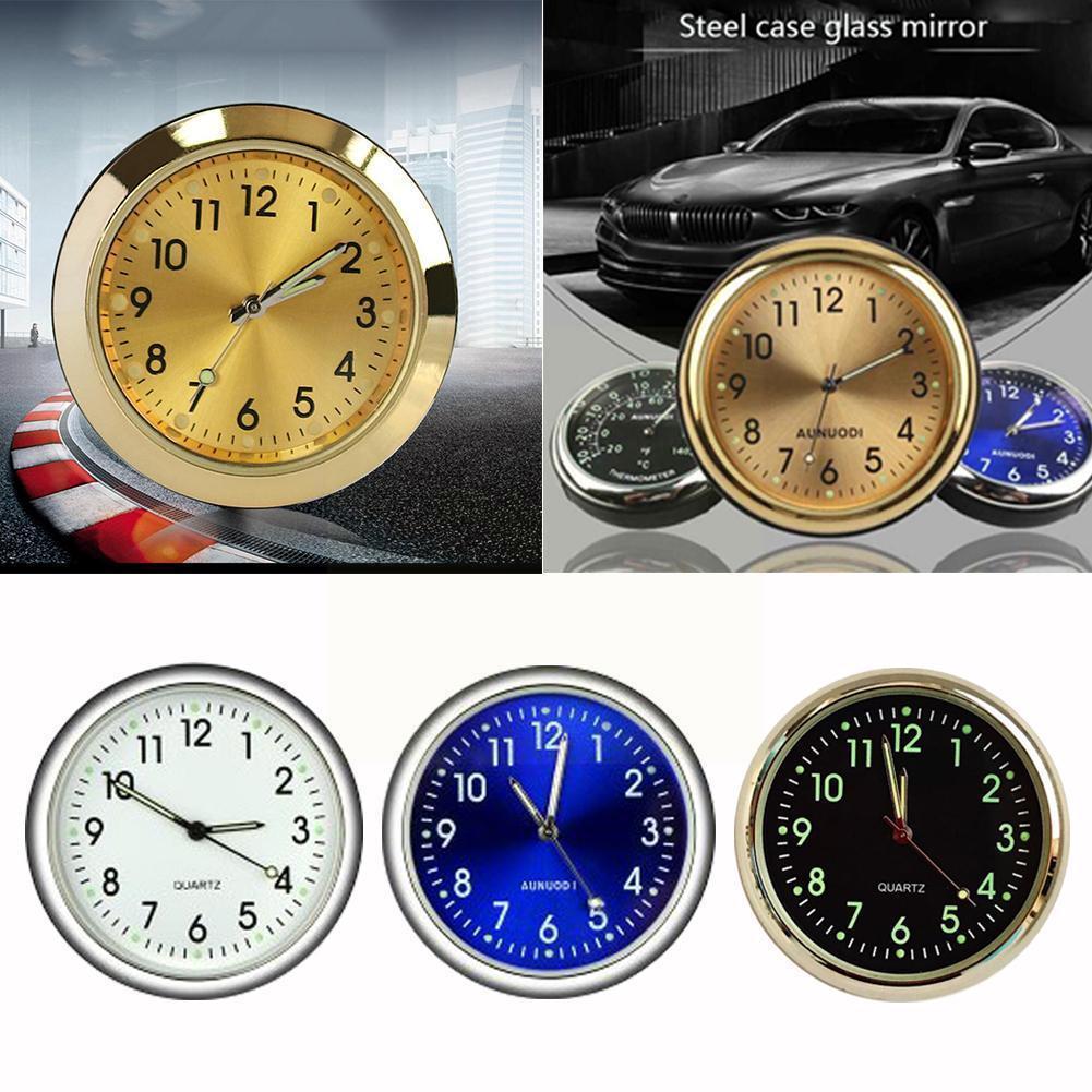 Автомобильные часы, светящиеся миниатюрные автомобильные внутренние кварцевые цифровые автомобильные подарки, автомобильные аксессуары, ...