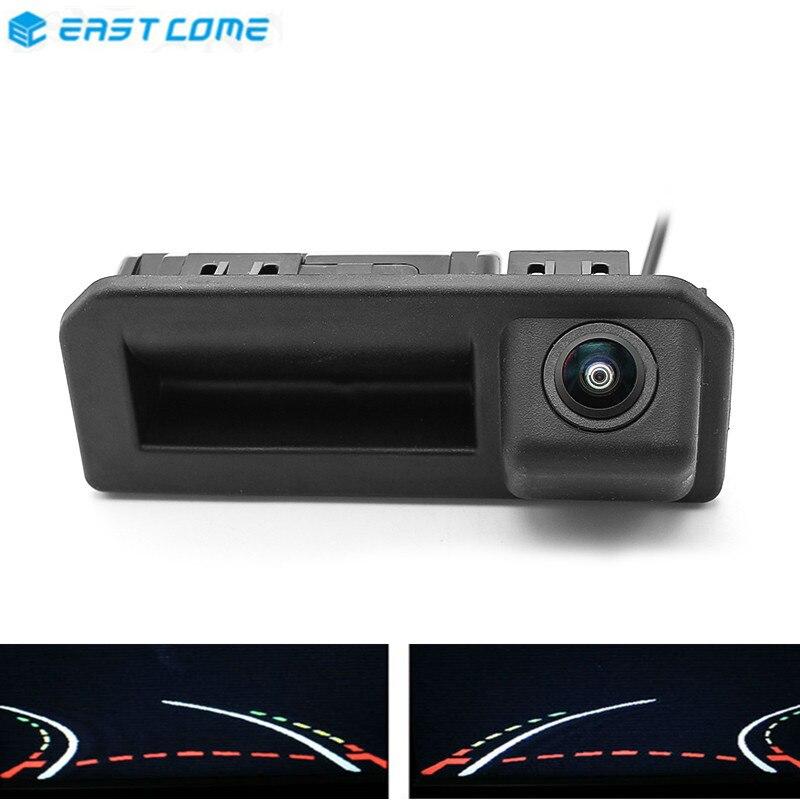 HD 1080P Trajectory Tracks Reverse Car Rear View Camera Trunk handle For Audi Q2 Q5L A5 Skoda karoq Cayenne Bora Car Camera