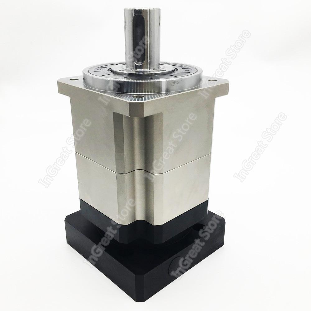 Engranaje planetario 121 helicoidal 5 Arcmin reductor 22mm entrada para NEMA52 120mm 130mm 1KW-3KW AC Servo Motor Robot CNC