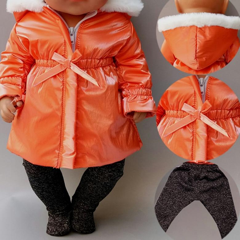 40cm Baby Doll ropa chaqueta pantalones Set 18 pulgadas muñeca ropa abrigo para invierno ropa para muñecas