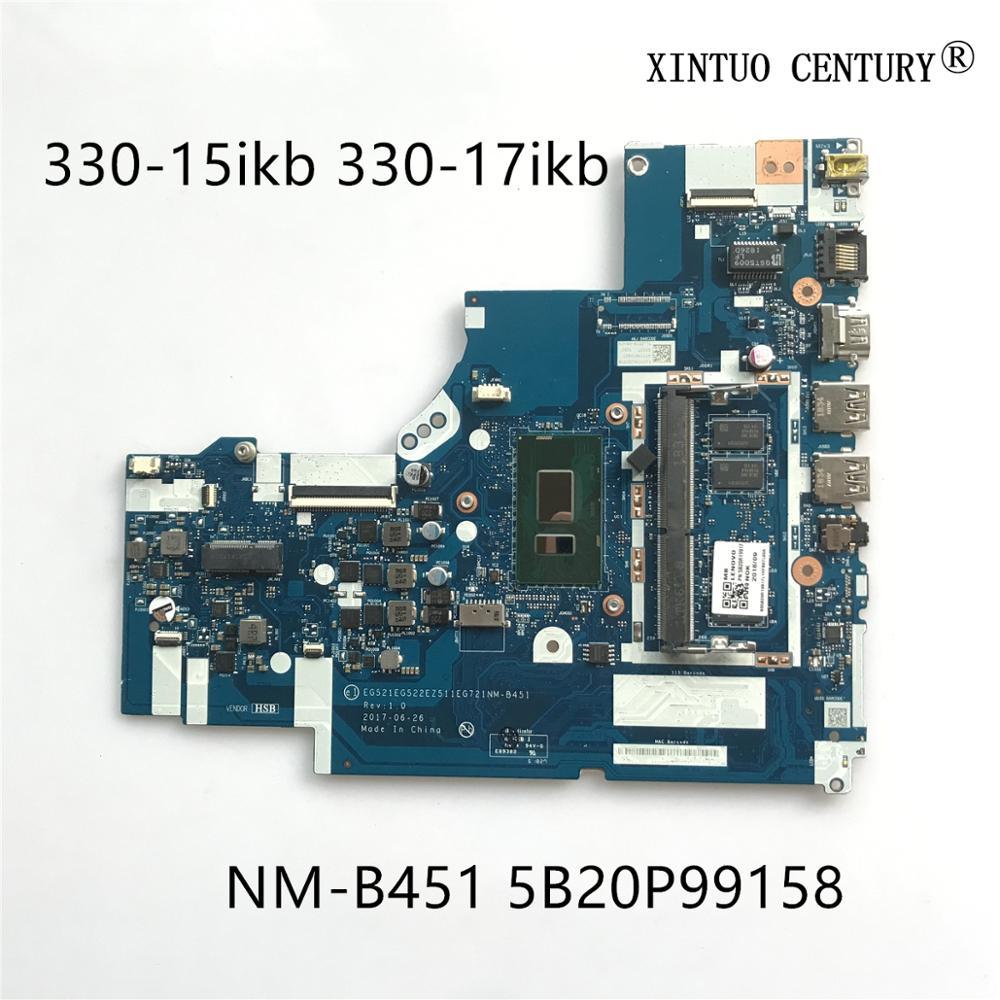 5B20P99158 لينوفو ايديا باد 330-15ikb 330-17ikb اللوحة الأم للكمبيوتر المحمول NM-B451 اللوحة الرئيسية مع i5-8250u 4GB RAM 100% اختبار العمل