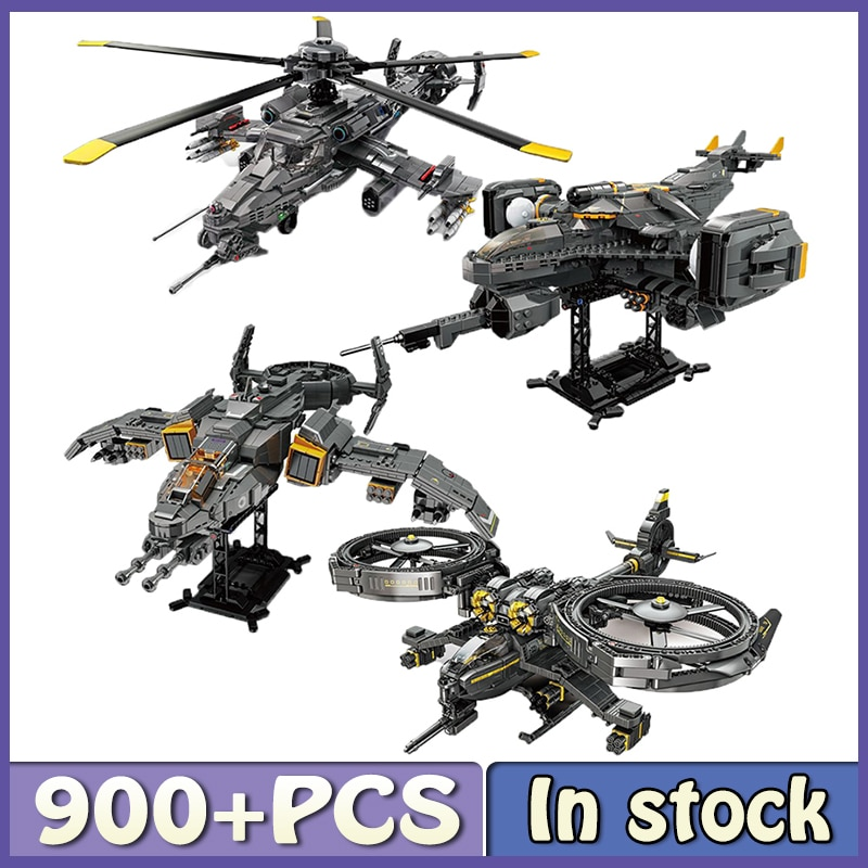 new-high-tech-combat-flying-weapon-moc-ww2-war-game-model-set-building-block-assembly-toys-childrens-birthday-gifts-boys-girl