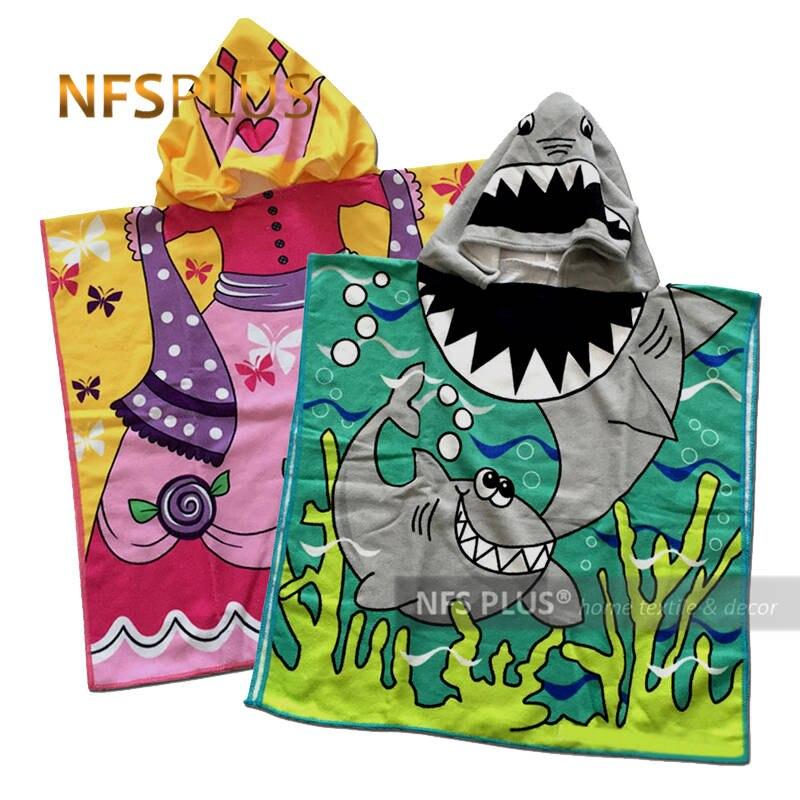 Bebê com capuz toalha para crianças roupão poncho toalha de banho para menina menino princesa sereia tubarão microfibra viagem toalha de praia