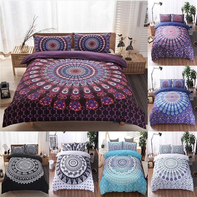 Mandala conjunto de cama floral paisley padrão capa edredão conjunto boêmio consolador conjuntos cama adulto menina única rainha rei