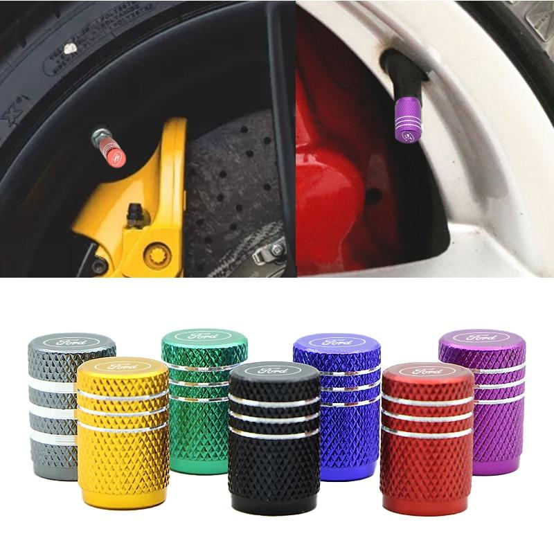 4 stücke Auto Rad Reifen Ventile Reifen Air Kappen Auto Abzeichen Emblem für Fords Fokus 2 3 1 MK2 MK3 MK1 Fusion Zubehör