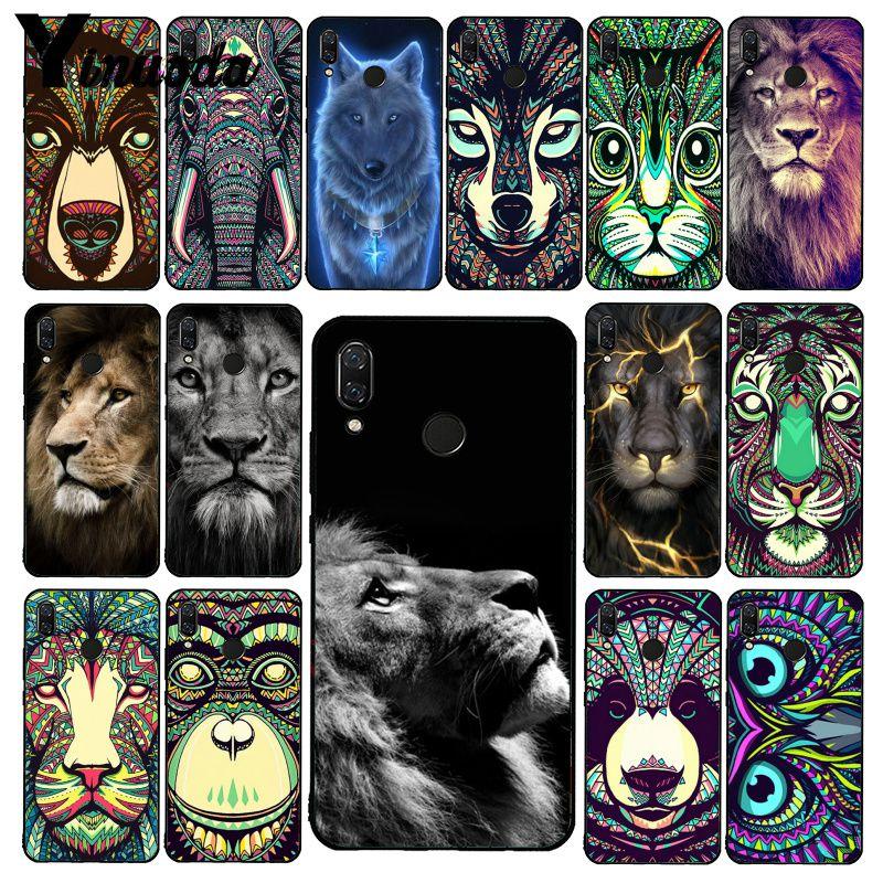 Yinuoda Animal Lion Wolf Owl Elephant Lion Tiger Phone Case for Xiaomi Redmi8 4X 6A S2 Go Redmi 5 5Plus Note8 Note5 7 Note8Pro